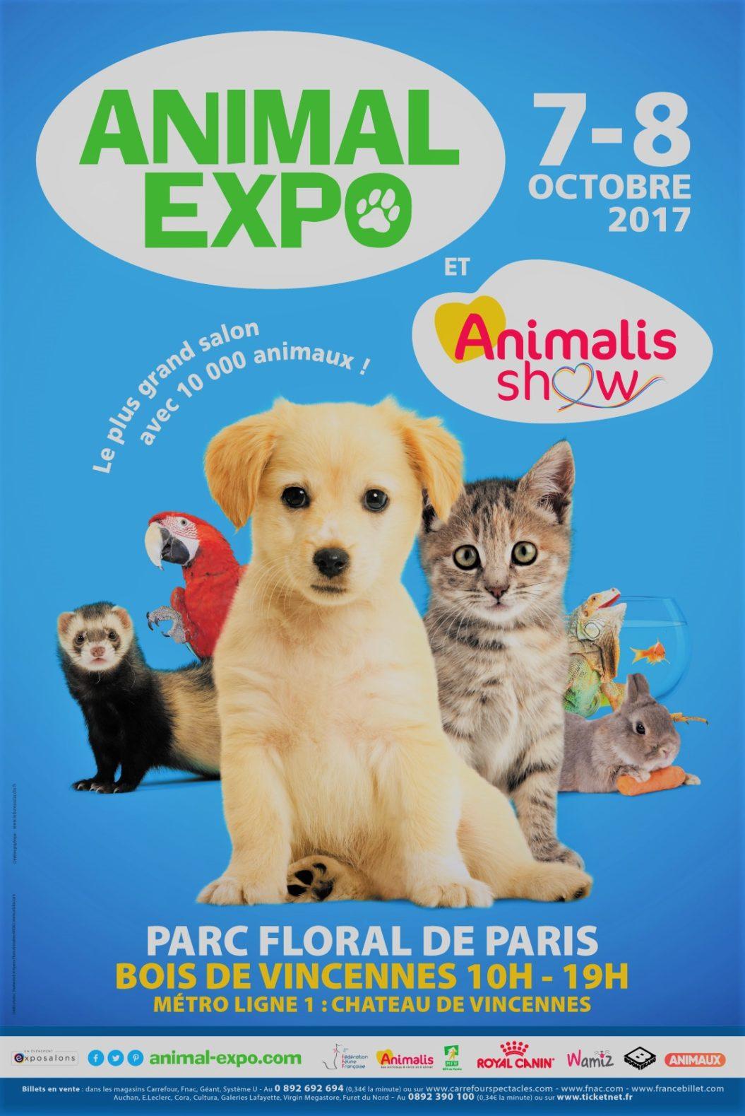 Animal expo le salon des animaux de compagnie au parc for Salon animaux 2017